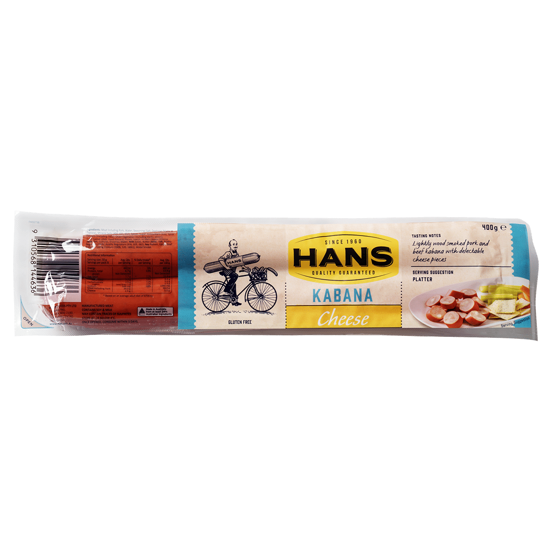 Hans Cheese Kabana 400g