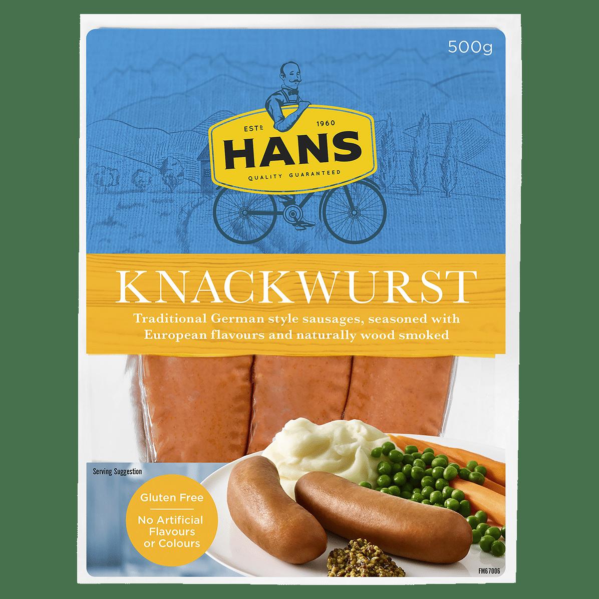 Hans European Style Knackwurst 500g