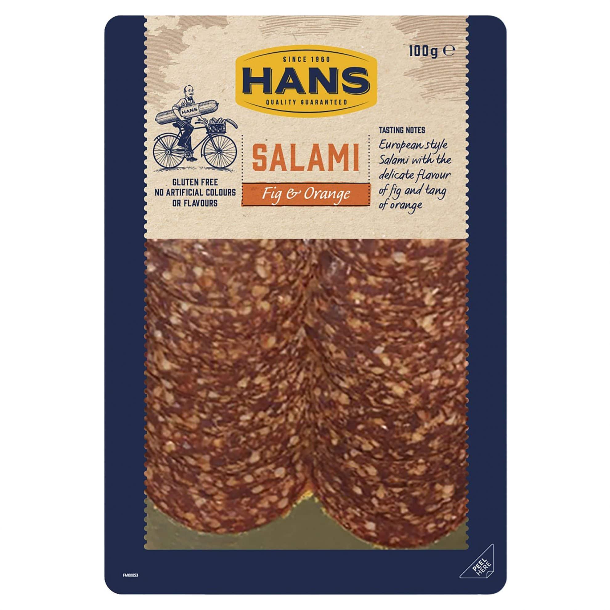 Hans Fig and Orange Salami 100g
