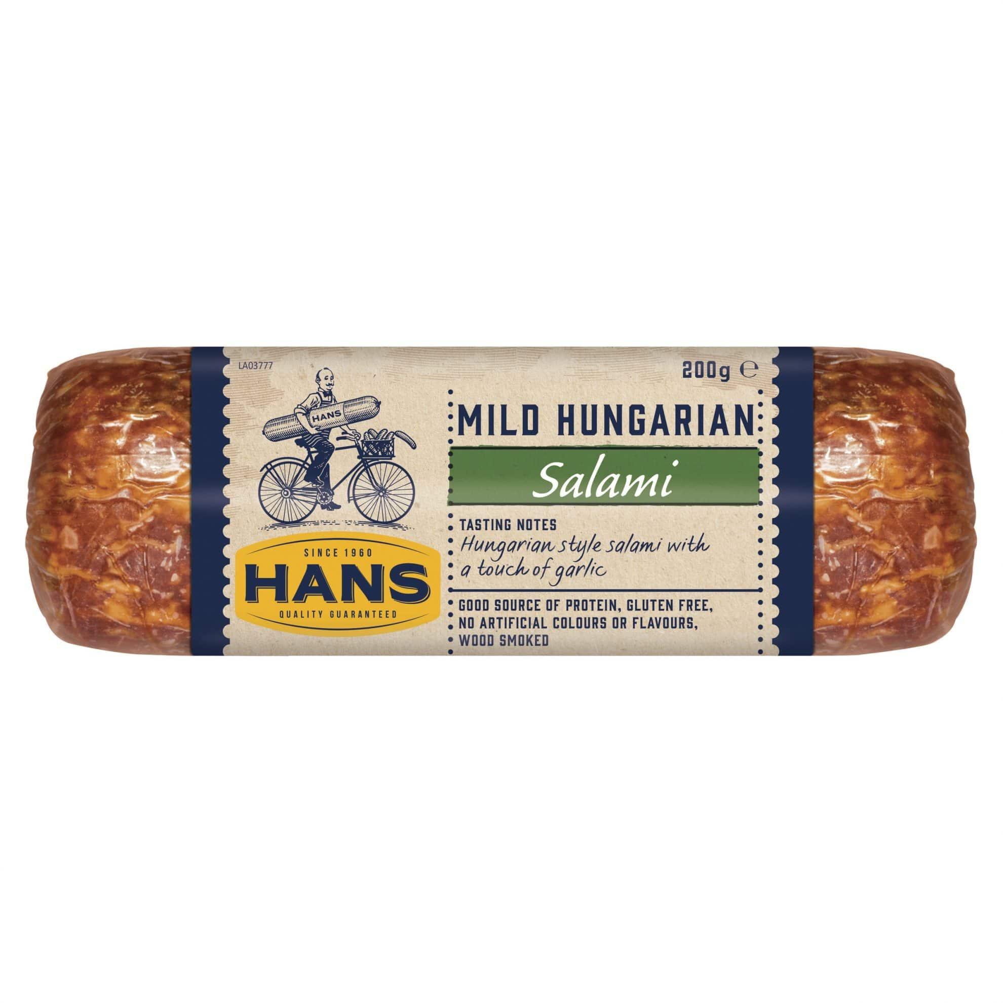 Hans Mild Hungarian Salami 200g