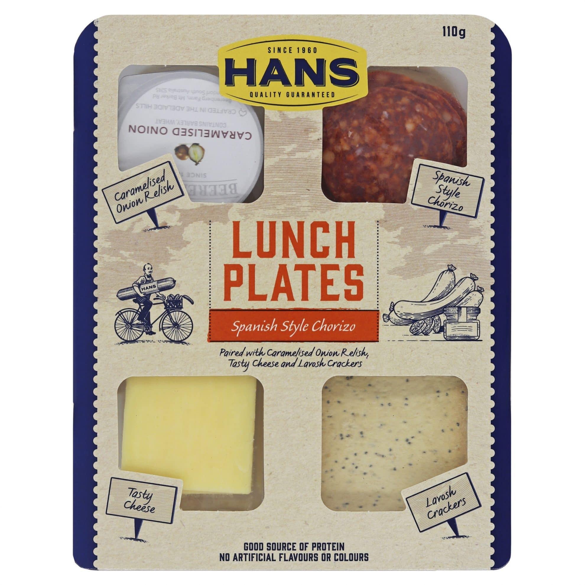 Hans Lunch Plate Spanish Style Chroizo 110g