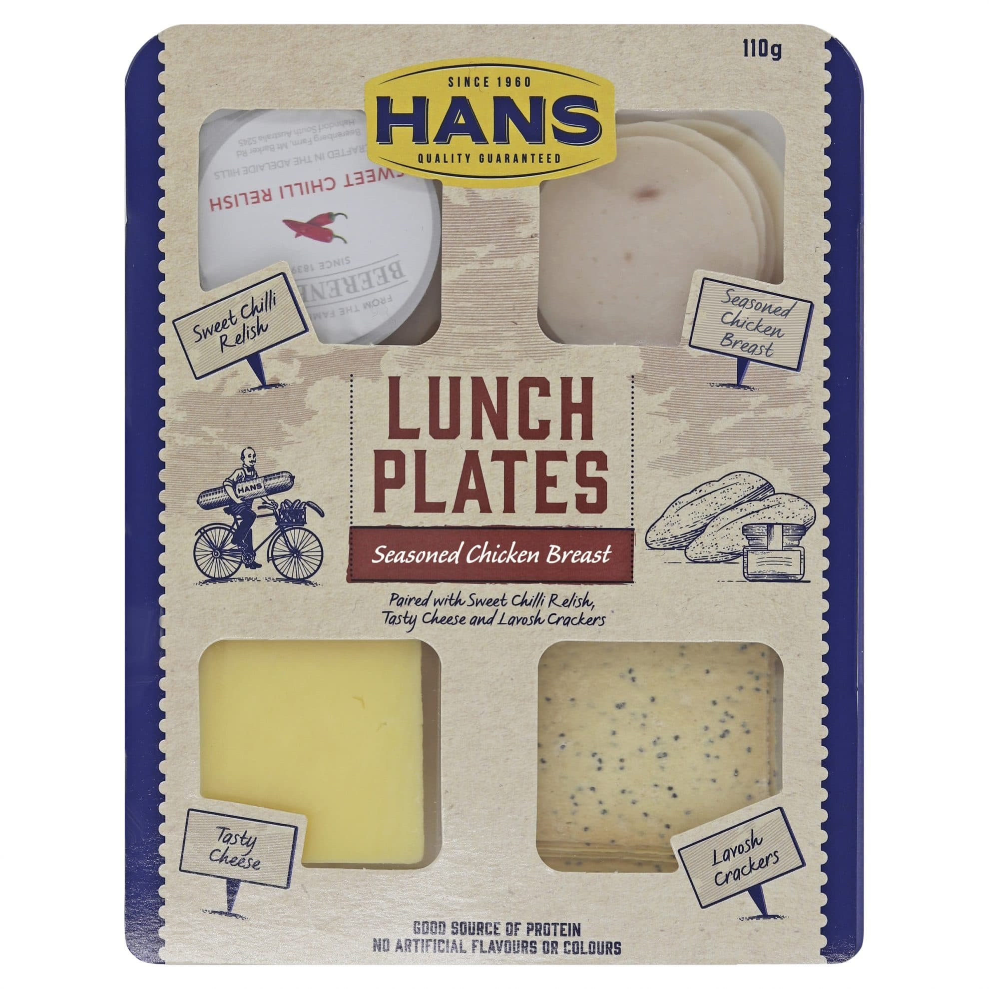 Hans Lunch Plate Seasoned Chicken Breast and Sweet Chilli 110g